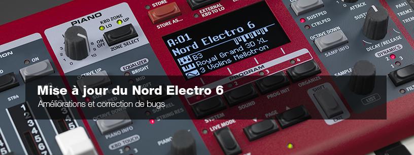 Mise à jour 1.14 pour le Nord Electro 6