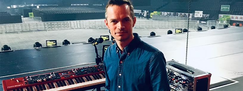 Johan Dalgaard en résidence avec ses claviers Nord