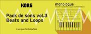 Un nouveau pack de sons pour le Korg Monologue !