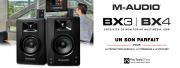 Les nouveaux moniteurs BX3 et BX4 M-Audio