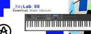 Le KeyLab Essential 88 d'Arturia revient en noir