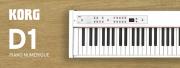 Le clavier haut de gamme Korg D1 adopte le blanc