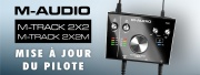 Vos interfaces audio M-Track 2x2 évoluent !