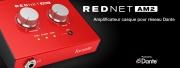 REDNET AM2: Amplificateur casque pour réseau Dante