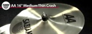 Sabian 16 AA Medium Thin Crash