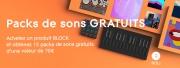 15 packs de sons gratuits avec ROLI BLOCKS