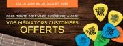 Algam Webstore vous offre vos médiators customisés