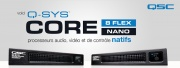 Core Nano & 8-Flex : Q-SYS dans un petit format