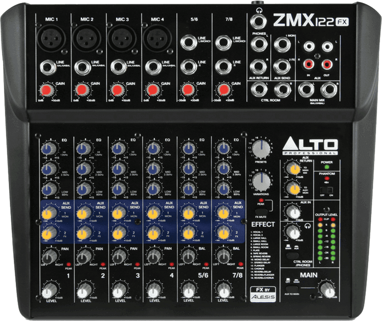 table de mixage zmx122fx