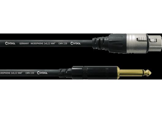CORDIAL Câbles microphone CCM10FP