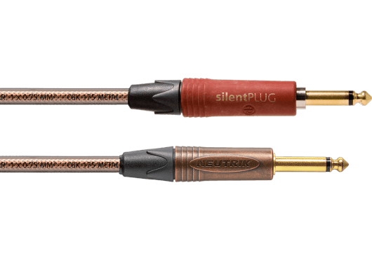 CORDIAL Câbles Instrument CSI9PP-METAL-SILENT