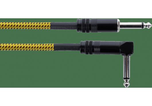 CORDIAL Câbles Instrument EI3PR-TWEED-YE