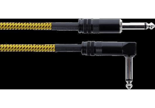 CORDIAL Câbles Instrument EI7.5PR-TWEED-YE