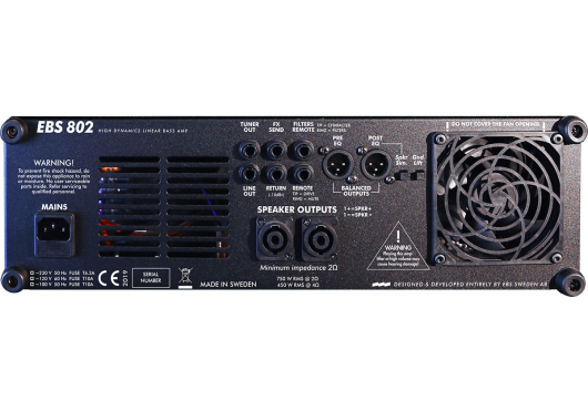 EBS Amplis basse 802HD