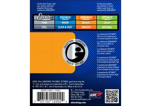 ELIXIR Cordes Electriques 12002