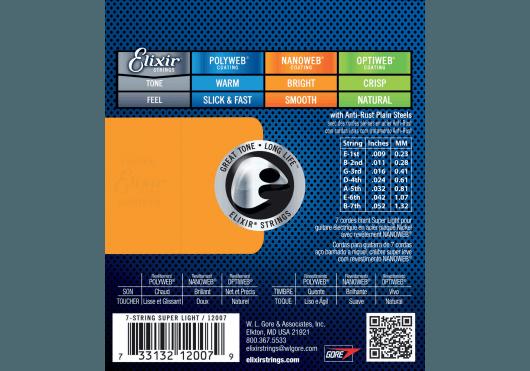 ELIXIR Cordes Electriques 12007