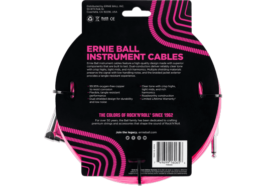 ERNIE BALL Câbles Instrument 6065