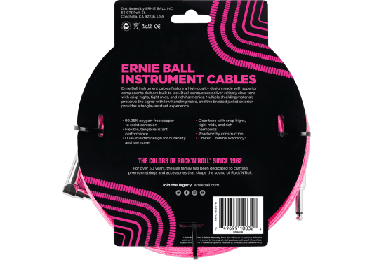Ernie Ball Câbles Instrument 6078