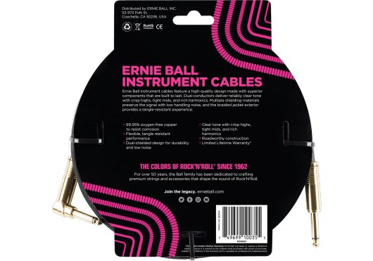 Ernie Ball Câbles Instrument 6081