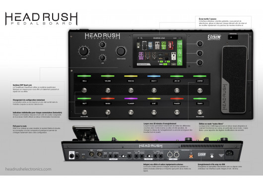 HeadRush Multi effets PEDALBOARD