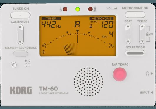 Korg Accordeurs/Métronomes TM60-WH