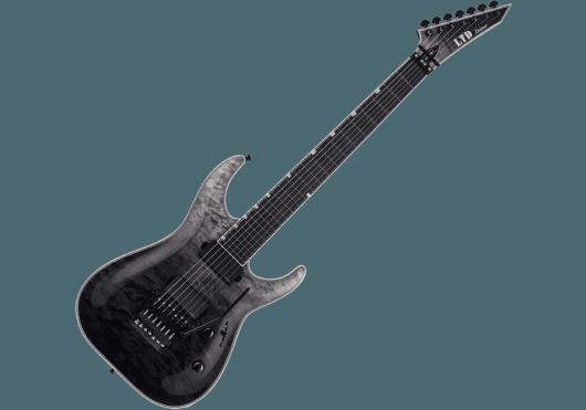 LTD Guitares Electriques MH1007QM-BLKFD
