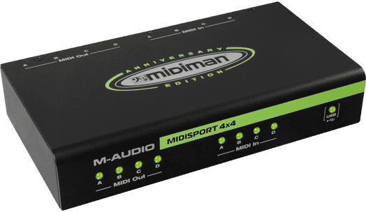 M-AUDIO Interfaces MIDI MIDISPORT4X4