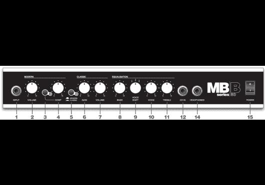 Marshall Amplis basse MB30 - Panneau