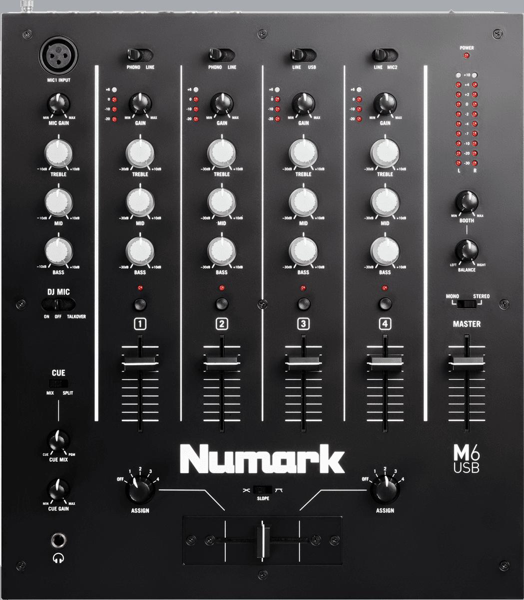 Numark m6usb la boite noire du musicien - Table de mixage vinyle ...