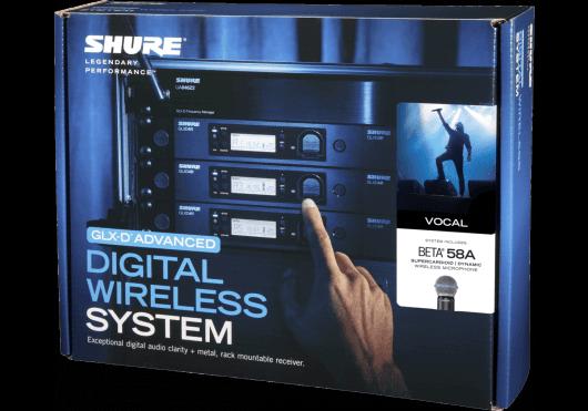 Shure SYSTEMES HF GLXD24RE-B58-Z2
