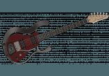 Vox Guitares Electriques VSS-1P-RD