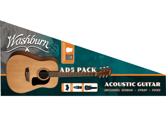Washburn Guitares acoustiques AD5PACK